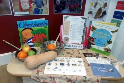 Fleet nursery children embrace Creative Cooks month