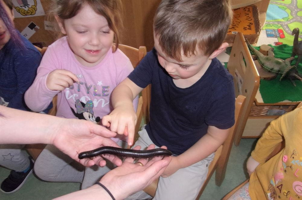 Crewe nursery children visited by Zoolab
