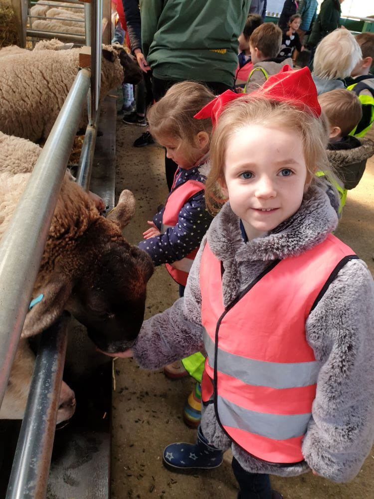 Banstead nursery children visit local farm