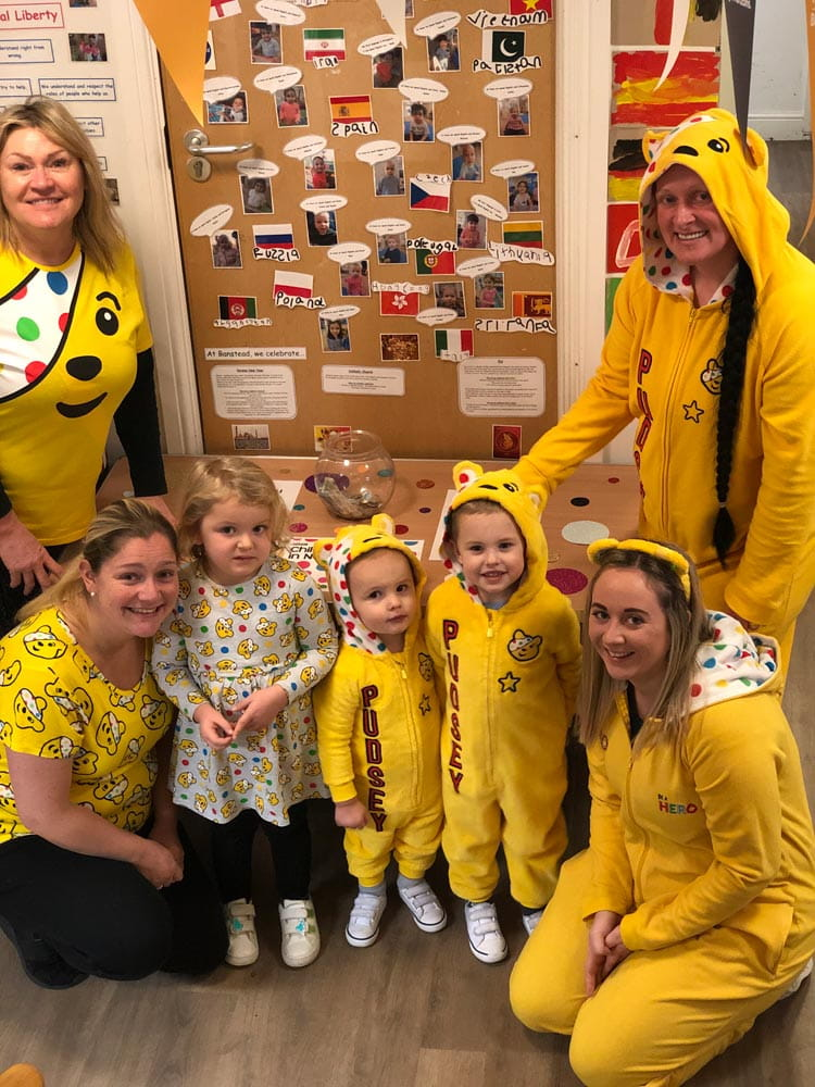 Banstead nursery children support Children in Need