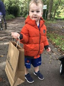 Sale nursery children take part in autumn walk