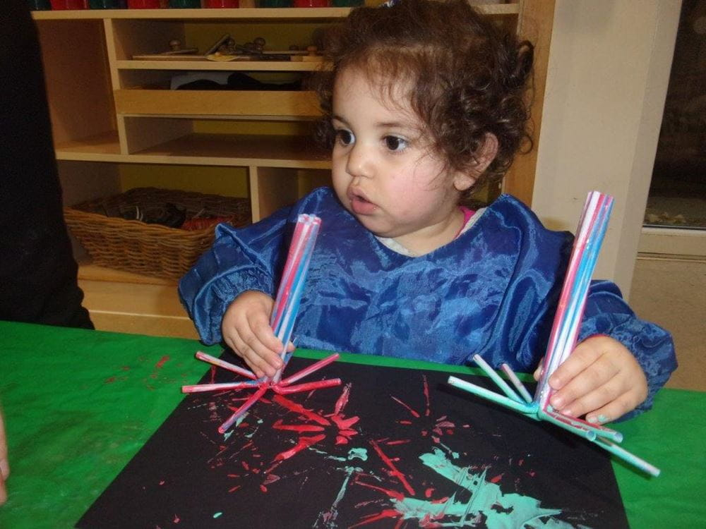 Sale nursery children make firework pictures