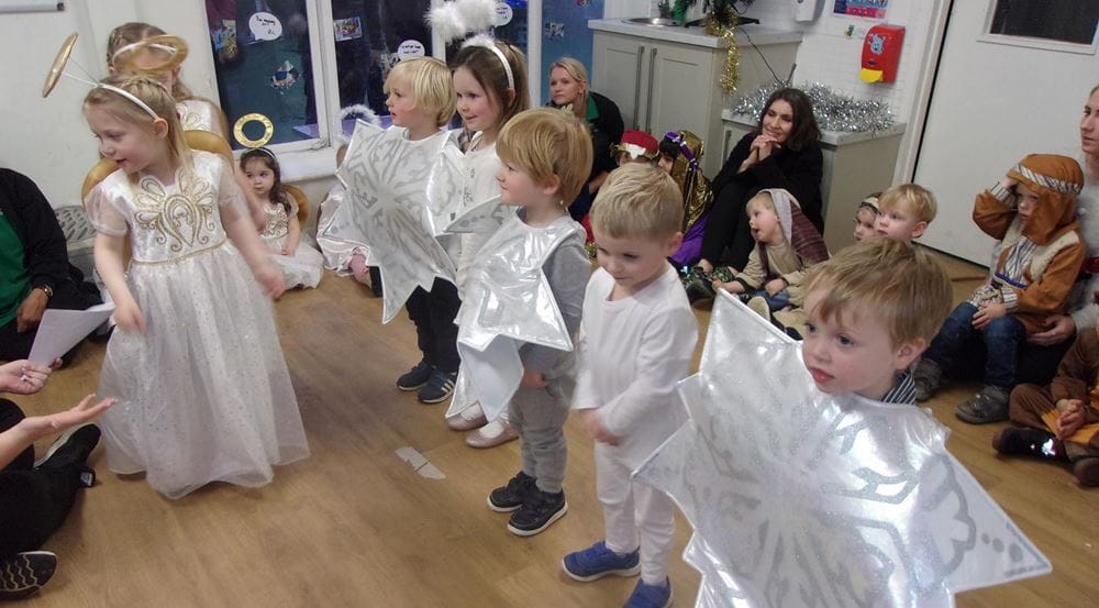 Esher nursery children take part in nativity play