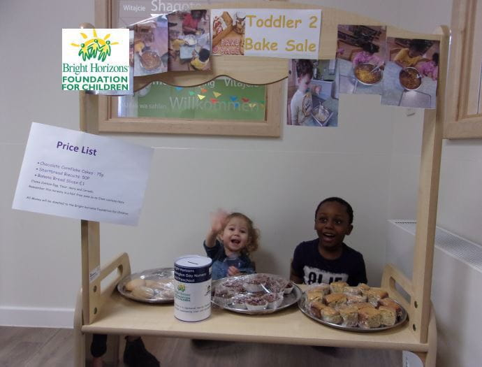 London nursery children raise money for charity with bake sale