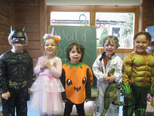 Young children dressed up as their favourite book characters for World Book Day