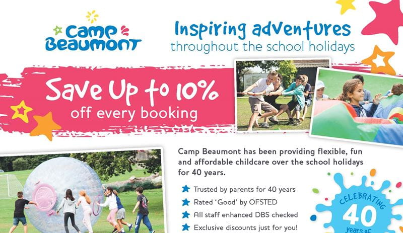 Camp Beaumont Bright Horizons Flyer 2020