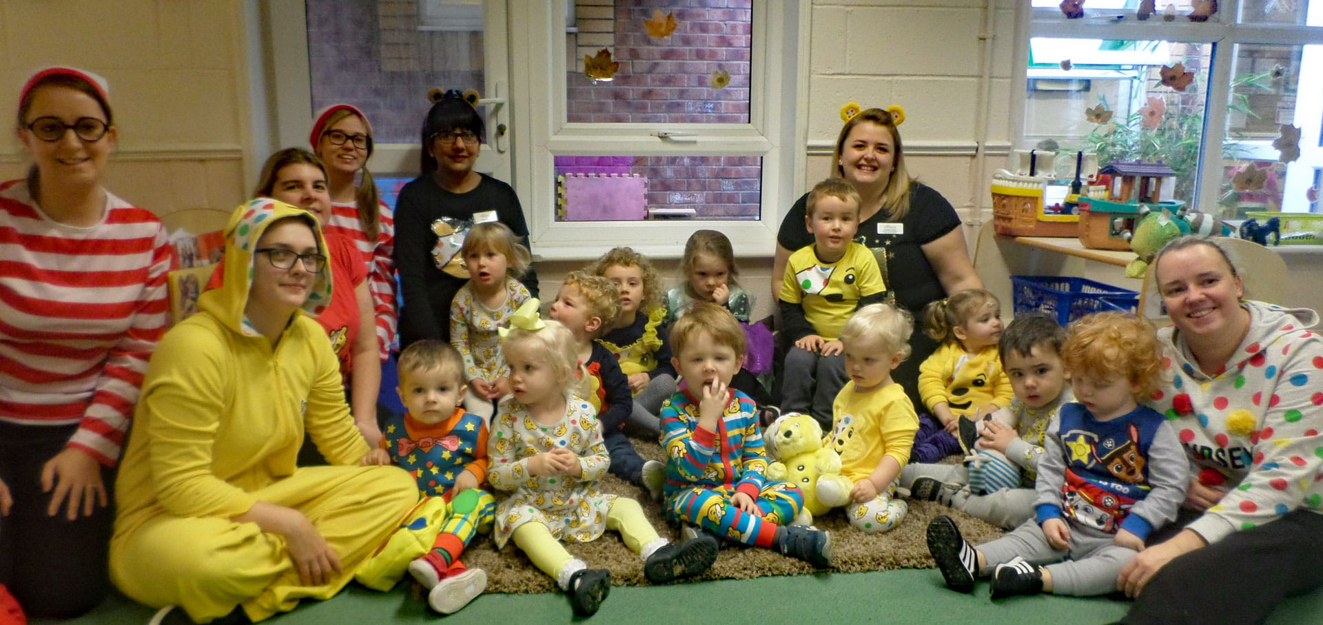 Hinckley nursery children raise money for Children in Need