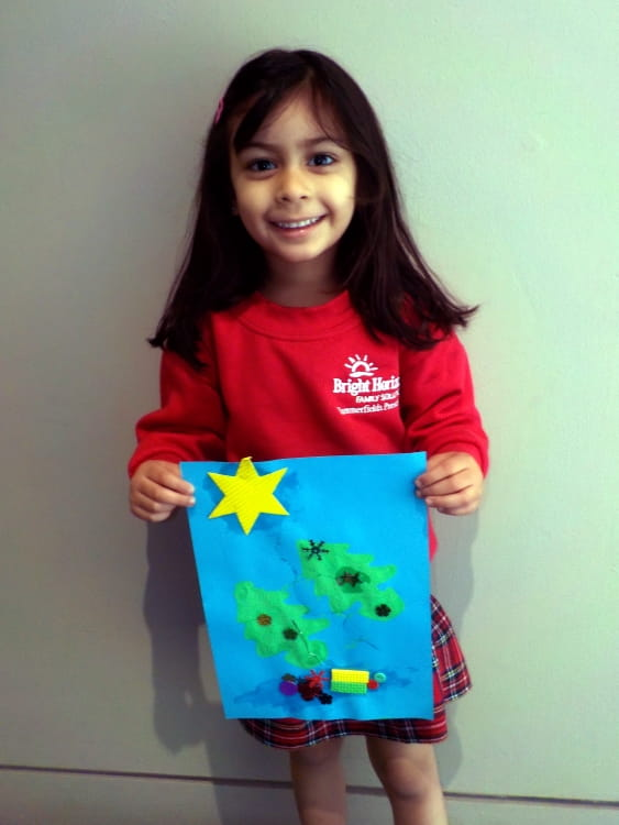 Nursery child makes final for national card competition