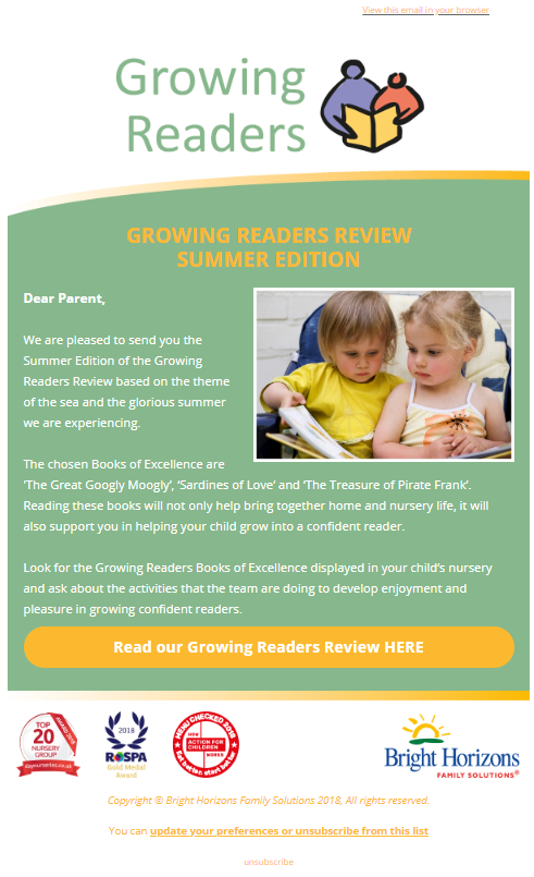 growing readers newsletter september