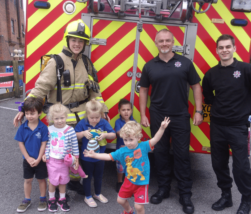 Epsom children enjoyed a visit from firefighters from the local station