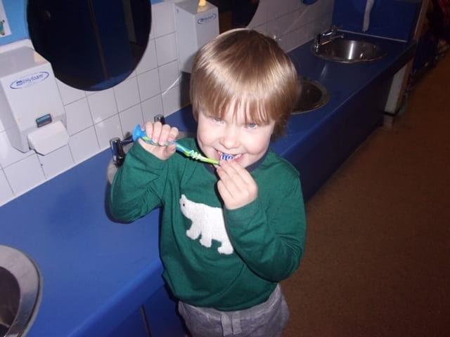 Crewe nursery children learn about importance of teeth cleaning