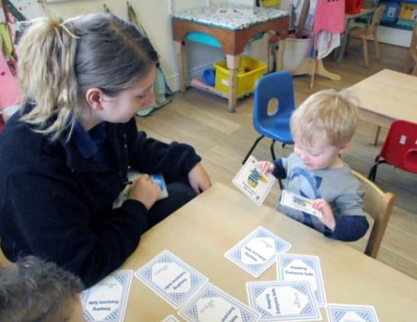 Matching cards at Teddies Basingstoke Nursery and Preschool