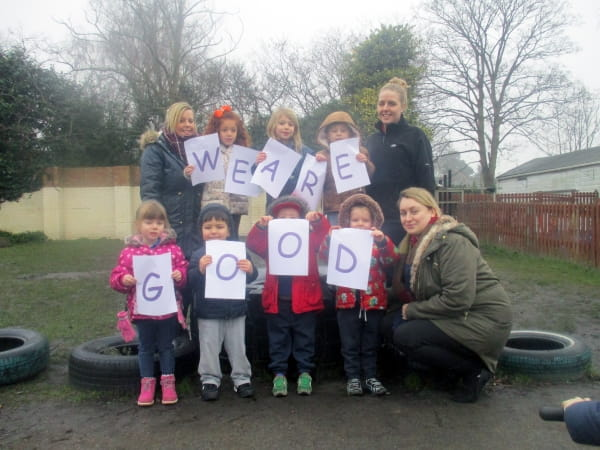 Celebrating a Good Ofsted inspection at Footsteps Nursery and Preschool