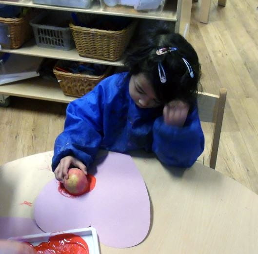 Valentines Day Activities at Englefield Green Day Nursery and Preschool