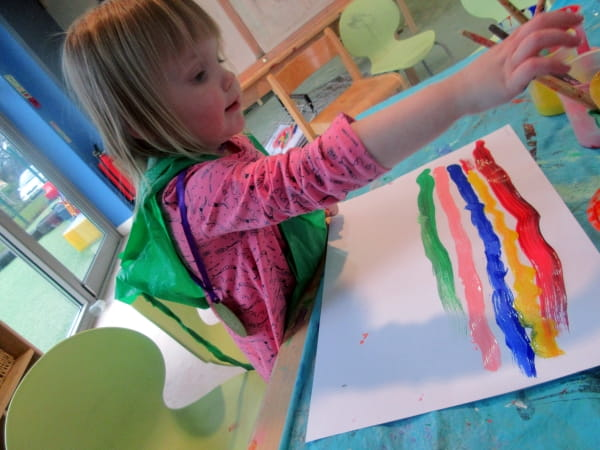 Children at Tytherington Day Nursery and Preschool learn about rainbows