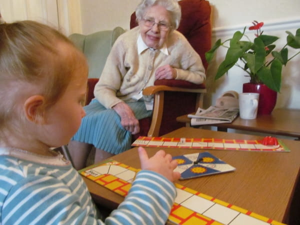 44 St Swithin Childcare and Preschool visit their local care home