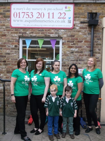 Celebrating being in the Top 10 of recommended nurseries on daynurseries.co.uk at Asquith St. Mary's Nursery and Preschool