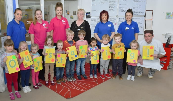 Chester Day Nursery and Preschool celebrate their recent Outstanding Ofsted inspection