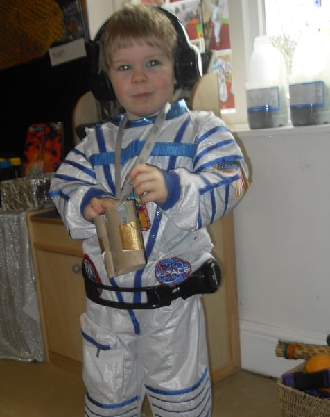 Clairmont Day Nursery and Preschool set up a space station for the children