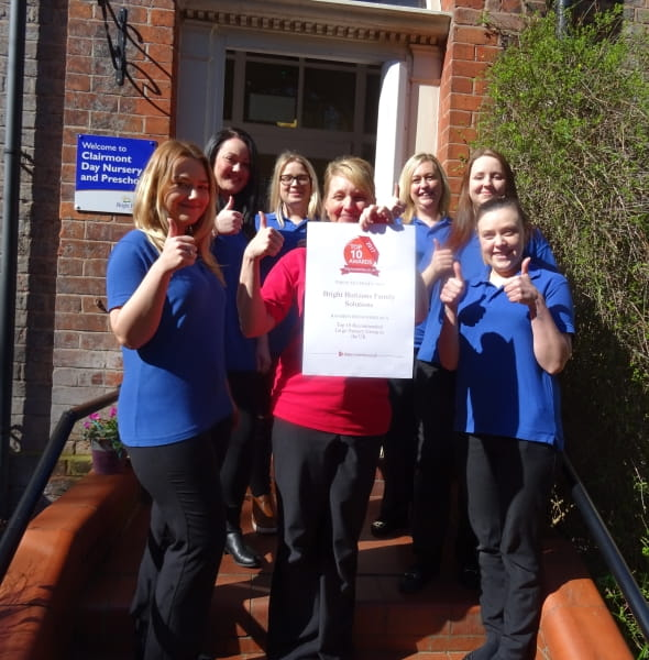 Bright Horizons Day Nursery and Preschool celebrates being amongst the Top 10 recommended nurseries  on daynurseries.co.uk