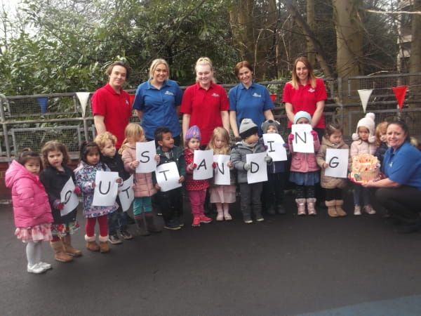 Didsbury Day Nursery and Preschool celebrate achieving Outstanding in their latest Ofsted inspection