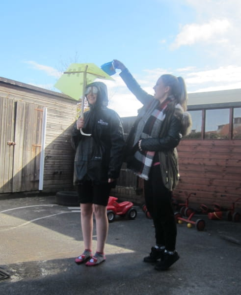 Umbrella Month at Elvetham Heath Day Nursery and Preschool in Fleet