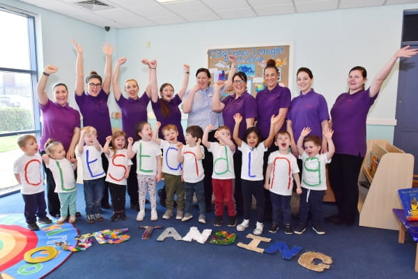 Kirkby Day Nursery and Preschool is rated Outstanding by Ofsted