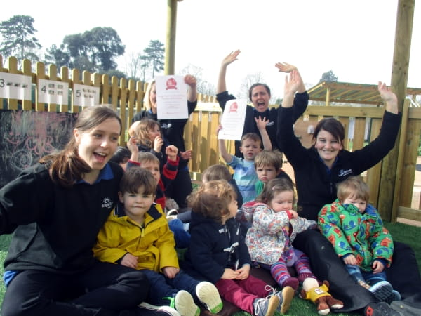 Rosehill Day Nursery and Preschool celebrate being named in the Top 10 of nurseries in the South West by daynurseries.co.uk