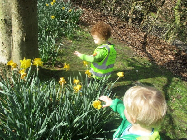 Sale Day Nursery and Preschool visit their local park