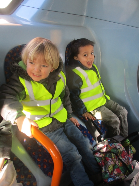 St Mary's Day Nursery and Preschool in Hulme visit a local museum