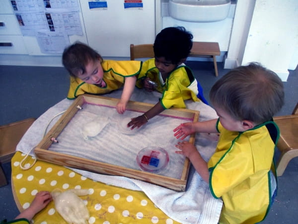 Dyce Day Nursery and Preschool explore ice