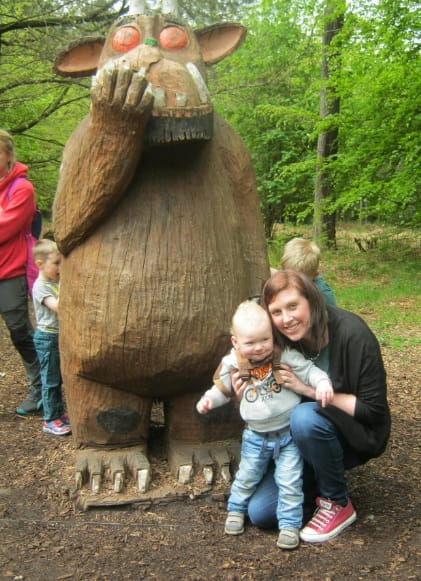 Church Crookham Day Nursery and Preschool discover characters along Gruffalo trail