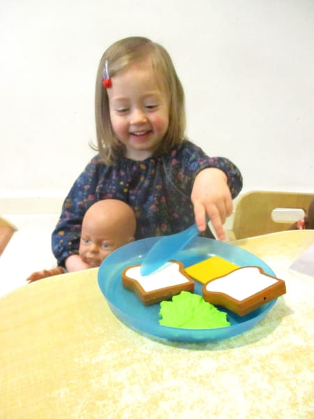 Crewe Day Nursery and Preschool children learn about baby care