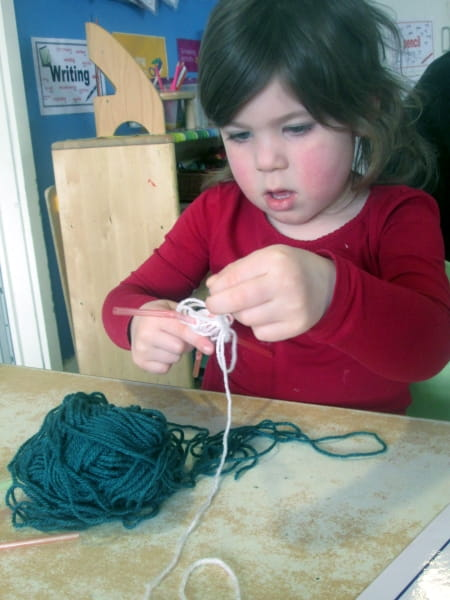 Crewe Day Nursery and Preschool create spider webs