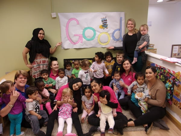 East India Dock Nursery celebrates their recent Ofsted inspection