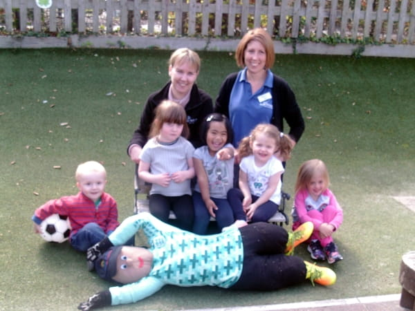 Starfish Day Nursery and Preschool create their own scarecrow