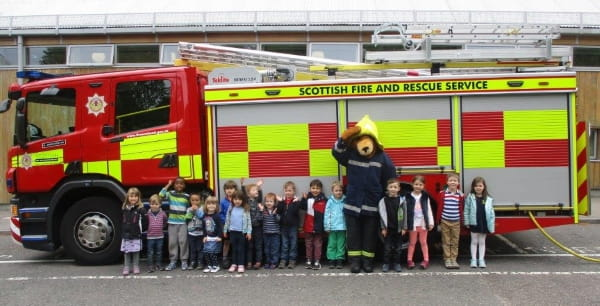 The Treehouse Early Care and Education Centre receive a visit from their local fire brigade