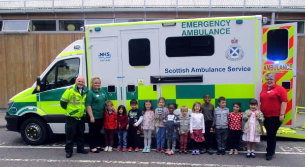 Treehouse Early Care and Education Centre receive a visit from a local paramedic