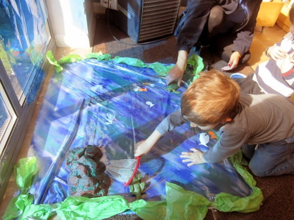 Wandsworth Day Nursery and Preschool create their own toy pond