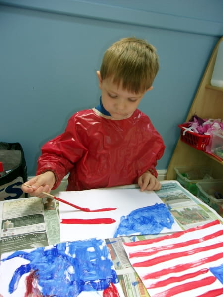 Caterham Day Nursery and Preschool learn about Independence Day