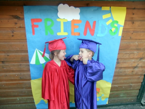 Preschool children at Waterside Day Nursery and Preschool celebrate graduation before going on to school