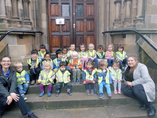 Edinburgh nursery children get out and about in local community