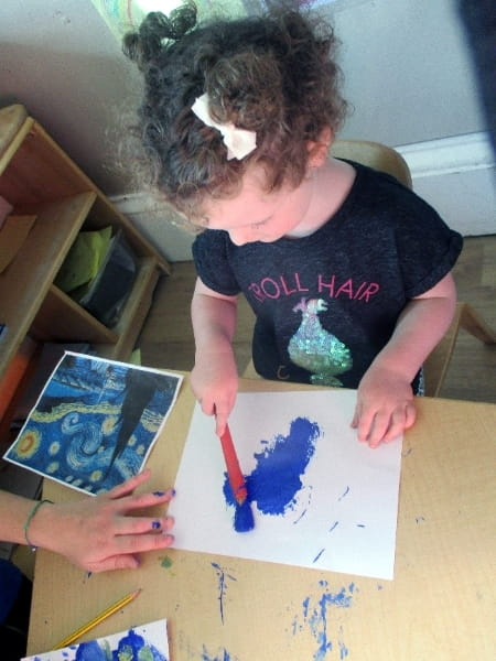 Bruntsfield Early Learning and Daycare learn about Vincent Van Gogh