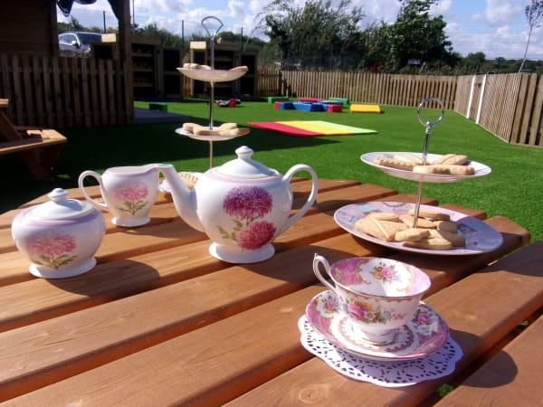 Farnham Day Nursery and Preschool hold a tea party