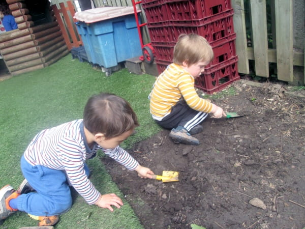 Crewe children embrace mud kitchen