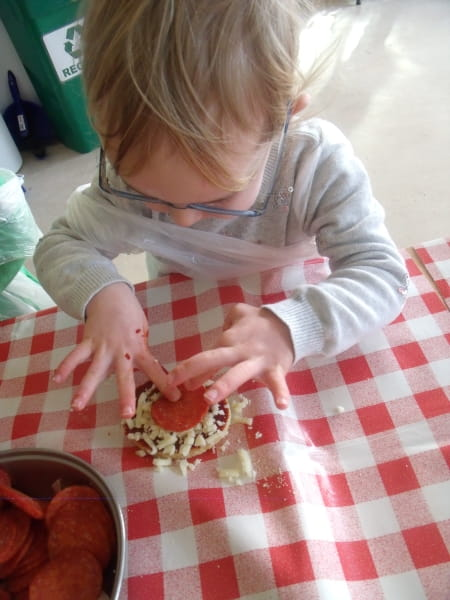 Church Crookham nursery children celebrate National Pizza Day