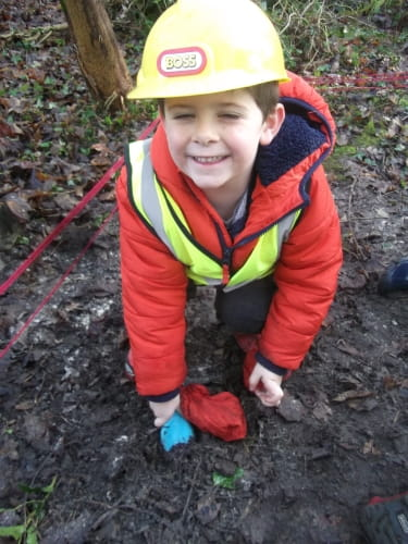 Oxford nursery children embrace dinosaur excavation activity