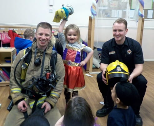 Glasgow nursery children visited by firefighters