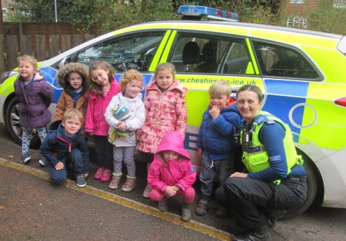 "Wilmslow nursery children take part in ""people who help us"" week"