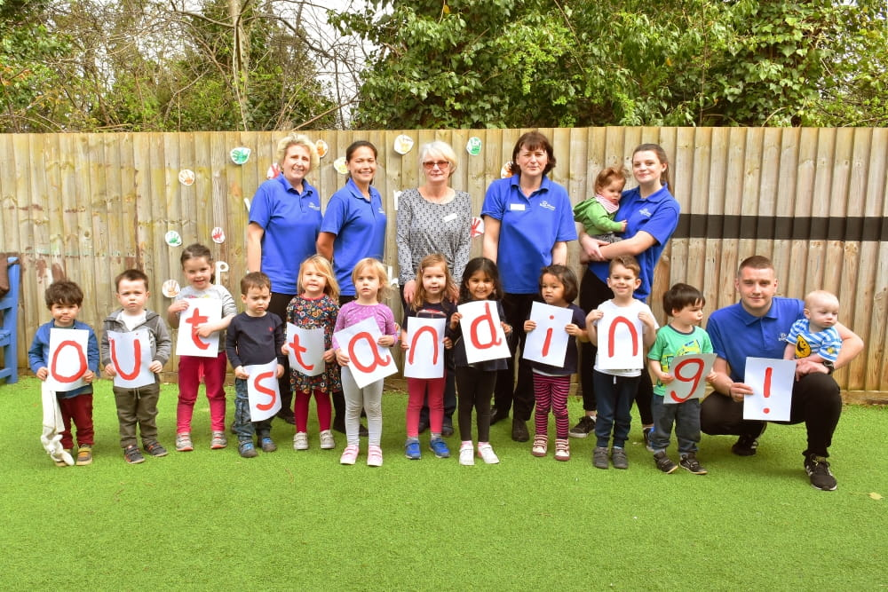 Hinchley Wood Day Nursery and Preschool celebrate their Outstanding Ofsted Inspection